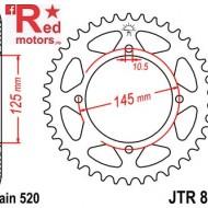 Foaie/pinion spate JTR857.41 520 cu 41 de dinti pentru MZ/MUZ Baghira 660, Yamaha TT 600, XT 550, XT 600