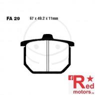 Placute frana fata semi-sinterizate 67x49.2x11 EBC FA29 pentru Honda CX 500, GL 1000