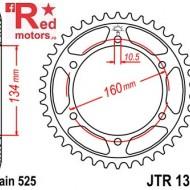 Foaie/pinion spate JTR1307.46 525 cu 46 de dinti pentru Honda CBR 600