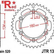 Foaie/pinion spate JTR1308.42 520 cu 42 de dinti pentru Honda CBR 600