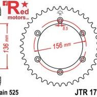 Foaie/pinion spate JTR1791.42 525 cu 42 de dinti pentru Suzuki DR 650, XF 650