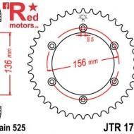 Foaie/pinion spate JTR1791.46 525 cu 46 de dinti pentru Suzuki DR 650, XF 650