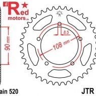 Foaie/pinion spate JTR18.43 520 cu 43 de dinti pentru MZ/MUZ Skorpion 660