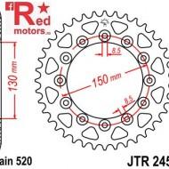 Foaie/pinion spate JTR245/2.44 520 cu 44 de dinti Honda CB 250, NX 250