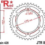 Foaie/pinion spate JTR839.55 428 cu 55 de dinti pentru Yamaha DT 125, WR 125