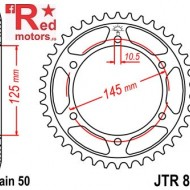Foaie/pinion spate JTR865.39 530 cu 39 de dinti pentru Yamaha FZ 750, FZR 600