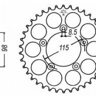 FOAIE SPATE JT 48 DINTI (JTR894) - KTM 65SX 2011-