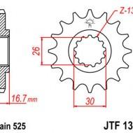 PINION JT 16 DINTI (JTF1370) - HONDA CBR900RR 1996-/600 1999-/VTR1000F