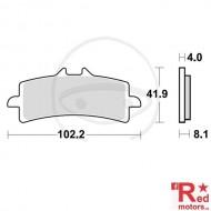 Placute frana fata CARBON CRQ TRW 102.2x41.9x4x8.1 pentru Bimota BB3 1000, BMW HP4 1000