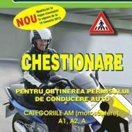 Carte legislatie rutiera - Chestionare pentru obţinerea permisului de conducere auto - categoriile AM (motoscutere), A1, A2, A