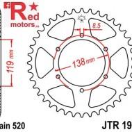 Foaie/pinion spate JTR1950.48 520 cu 48 de dinti pentru Husaberg FC 400, FC 600, FE 400
