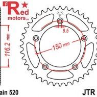 Foaie/pinion spate JTR28.43 520 cu 43 de dinti pentru Aprilia RS 250
