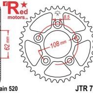 Foaie/pinion spate JTR701.39 520 cu 39 de dinti pentru Aprilia RS 125, Cagiva Mito 125