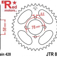 Foaie/pinion spate JTR810.46 428 cu 46 de dinti pentru Generic Worx 125, Hyosung GA 125
