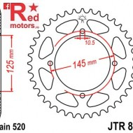 Foaie/pinion spate JTR857.43 520 cu 43 de dinti pentru MZ/MUZ Baghira 660, Yamaha TT 600, XT 550, XT 600