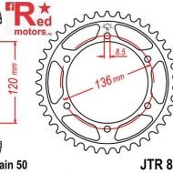 Foaie/pinion spate JTR862.44 530 cu 44 de dinti pentru Yamaha RD 500, XJ 600