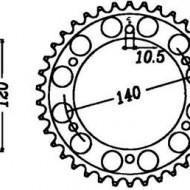 FOAIE SPATE JT 48 DINTI (JTR499) - KAWASAKI ZZR500/600 1993-2004