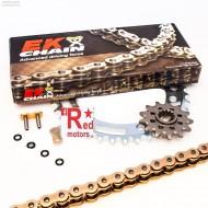Kit lant EK Ultimate NX-Ring 18/43T Gold/Auriu SUZUKI GSX1300 BK-K8,K9,L0,L1 BK B-KING 2008-2011