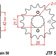 Pinion fata JTF513 cu 17 dinti