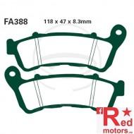 Placute frana fata sinterizate 118x47x8.3 EBC FA388 pentru Honda CB 600, CB 1300, CBF 500, CBF 1000, NC 700, VFR 800, Suzuki VLR 1800