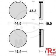 Placute frana fata STD TRW ALTN 44.5x43.2x10/43.4x9.5 pentru Kawasaki KH 125, Z 200