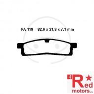 Placute frana fata STD EBC 82.6x21.8x7.1 EBC FA119 pentru Yamaha TT-R 125, YZ 80, YZ 85