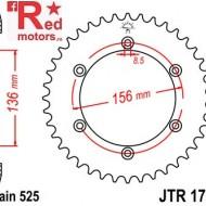 Foaie/pinion spate JTR1791.43 525 cu 43 de dinti pentru Suzuki DR 650, XF 650