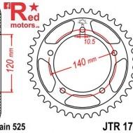 Foaie/pinion spate JTR1792.48 525 cu 48 de dinti pentru Kawasaki KLV 1000, Suzuki DL 650