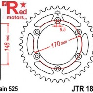 Foaie/pinion spate JTR1821.47 525 cu 47 de dinti pentru Suzuki DR 800