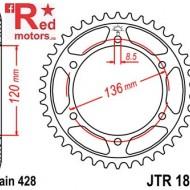 Foaie/pinion spate JTR1847.51 428 cu 51 de dinti pentru Yamaha FZR 400, TDR 125