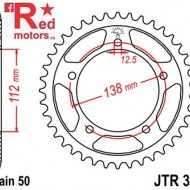Foaie/pinion spate JTR302.39 530 cu 39 de dinti pentru Honda CB 900 F Hornet, CB 1100, CB 1300, CBF 1000