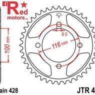 Foaie/pinion spate JTR462.49 428 cu 49 de dinti pentru Kawasaki KX 80, KX 85