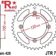 Foaie/pinion spate JTR798.49 428 cu 49 de dinti pentru Suzuki RM 80, RM 85