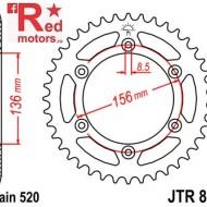 Foaie/pinion spate JTR822.45 520 cu 45 de dinti pentru Beta RR 400 Enduro, 350, 450