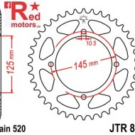 Foaie/pinion spate JTR857.46 520 cu 46 de dinti pentru Yamaha TT 600, XT 550, XT 600