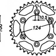 FOAIE SPATE JT 48 DINTI (JTR735) - DUCATI MONSTER 695/620 MTS650 2005-