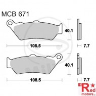 Placute frana fata STD TRW ALTN 108.5x40.1x7.7/108.5x40.1x7.7 MCB671 pentru Aprilia ETV 1000, Moto 650, Pegaso 650, BMW C1 125, F 650 650
