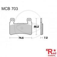 Placute frana fata STD TRW LUCAS 74.5x55.2x7.2 MCB703 pentru Honda CB 1100, CB 1300, CBR 600, CBR 900, VTR 1000, Hyosung GT 650