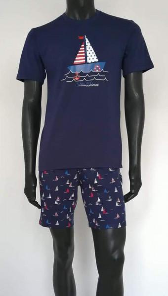 Pijama Bărbați 4092 Bleumarin