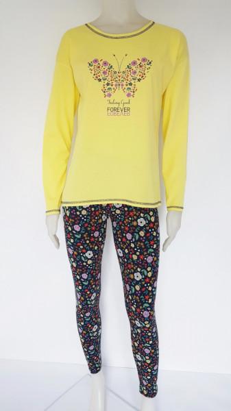 Pijama Damă Knox 2170 Galben