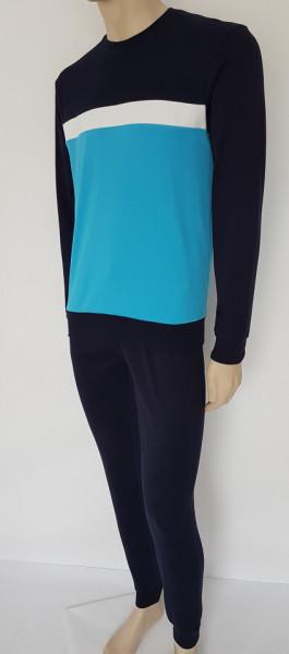 Ans.4010.Albastru, Pijama Groasa/Compleu Casa Barbati