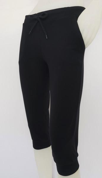 P.2013.Negru, Pantalon Dama 3/4 cu Manseta