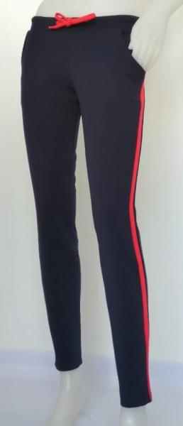 P.2169.Navy&Rosu, Pantalon Dama Conic Knox