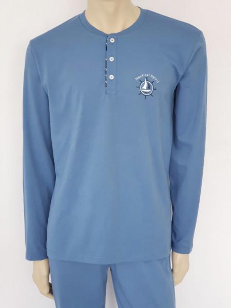 Pijama Bărbați Knox 4084.Albastru