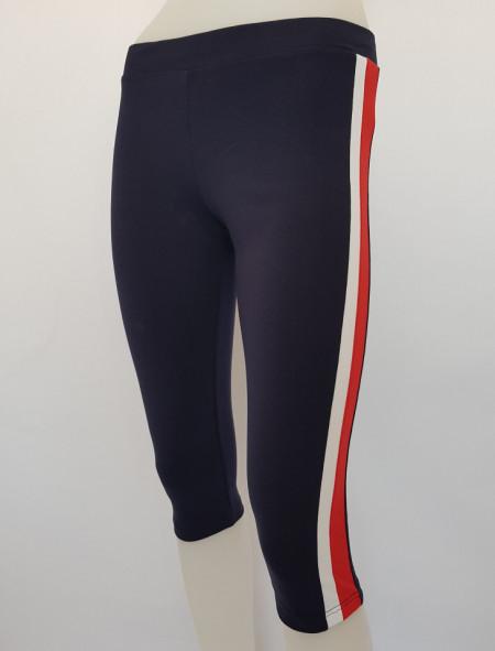 Pantalon Dama 3/4 Slim 2184 Bleumarin&Rosu