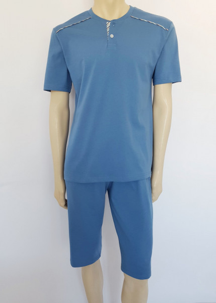 Pij.4100.Dusty Blue, Pijama Bărbați KNOX