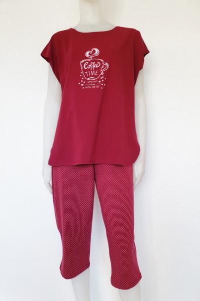 Pijama Damă EXTRA LARGE 2152.Burgund