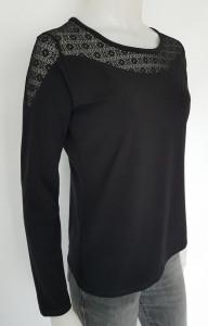 Bluza Dama Knox cu Dantela 2324 Negru