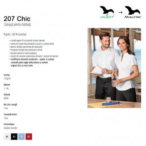 Cămaşă Bărbaţi Malfini Regular-Fit CHIC 207 Alb
