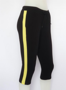 Pantalon Dama 3/4 Conic.2183.negru&galben